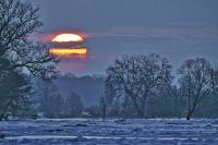 Nadodrzański krajobraz zimą